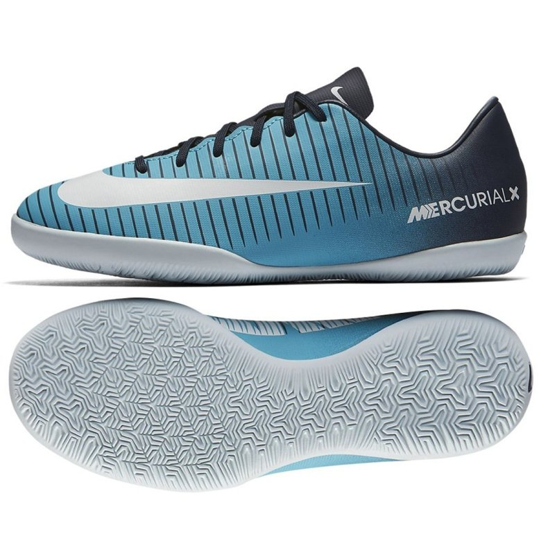Buty halowe Nike Mercurial Vapor Xi Ic Jr 831947-404 niebieskie