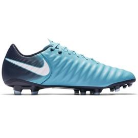 Buty piłkarskie Nike Tiempo Ligera Iv Fg M 897744-414 niebieskie