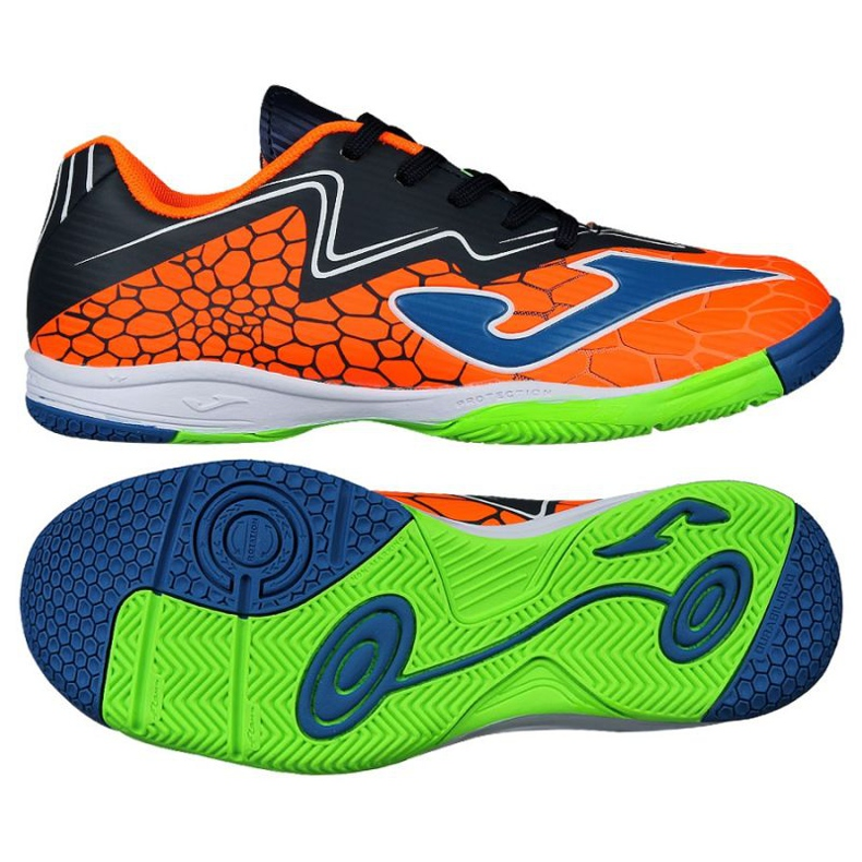 Buty halowe Joma Super Copa In Jr SCJS.808.IN pomarańczowe zielone
