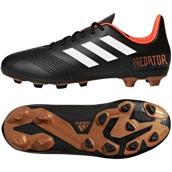 Buty piłkarskie adidas Predator 18.4 FxG Jr CP9243 czarne czarny