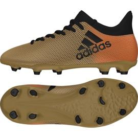 Buty piłkarskie adidas X 17.3 Fg Jr CP8990 biały, złoty złoty