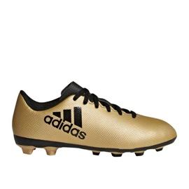 Buty piłkarskie adidas X 17.4 FxG Jr CP9013 złoty