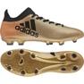 Buty piłkarskie adidas X 17.3 Fg M CP9190 złoty, czarny wielokolorowe