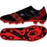 Buty piłkarskie adidas Nemeziz 17.4 FxG M CP9006 czarny, czerwony czarne