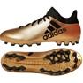 Buty piłkarskie adidas X 17.3 Ag M CP9233 złoty, czarny złoty