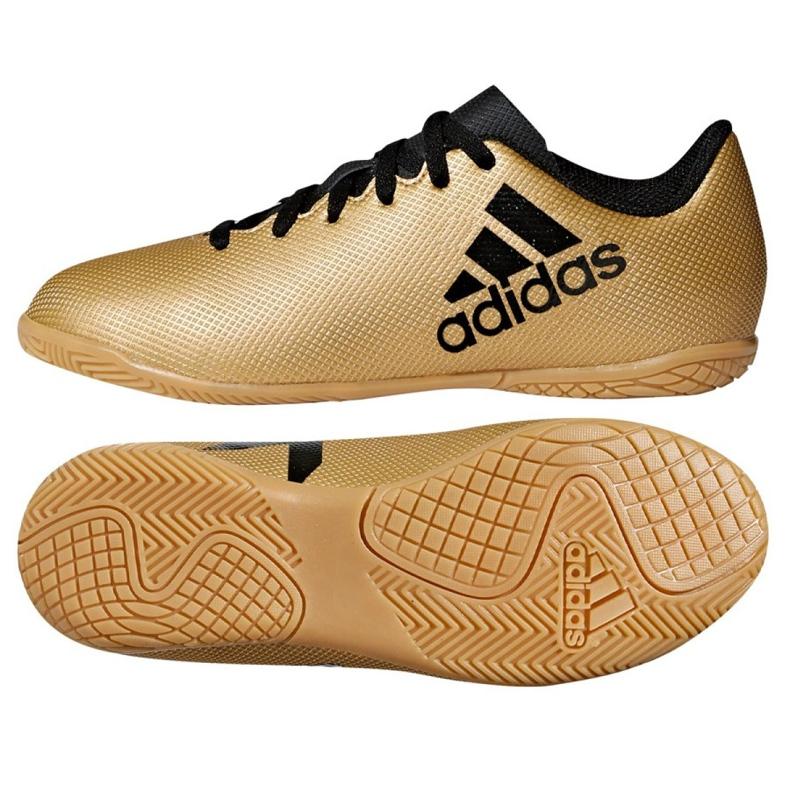 Buty halowe adidas X Tango 17.4 In Jr CP9052 złoty