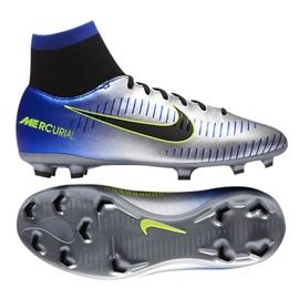 Buty piłkarskie Nike Mercurial Victory Vi Df Neymar Fg Jr 921486-407 srebrny wielokolorowe