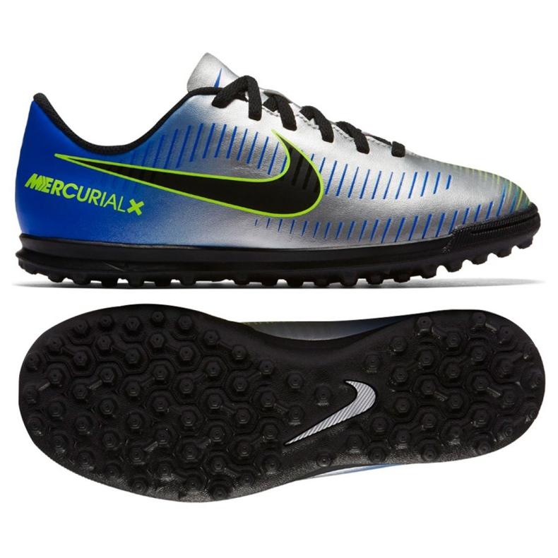 Buty piłkarskie Nike MercurialX Vortex Iii Neymar Tf Jr 921497-407 wielokolorowe niebieskie