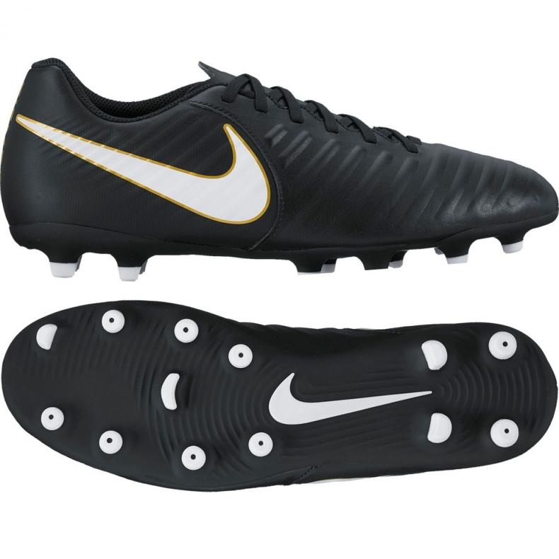 Buty piłkarskie Nike Tiempo Rio Iv Fg M 897759-002 czarne wielokolorowe