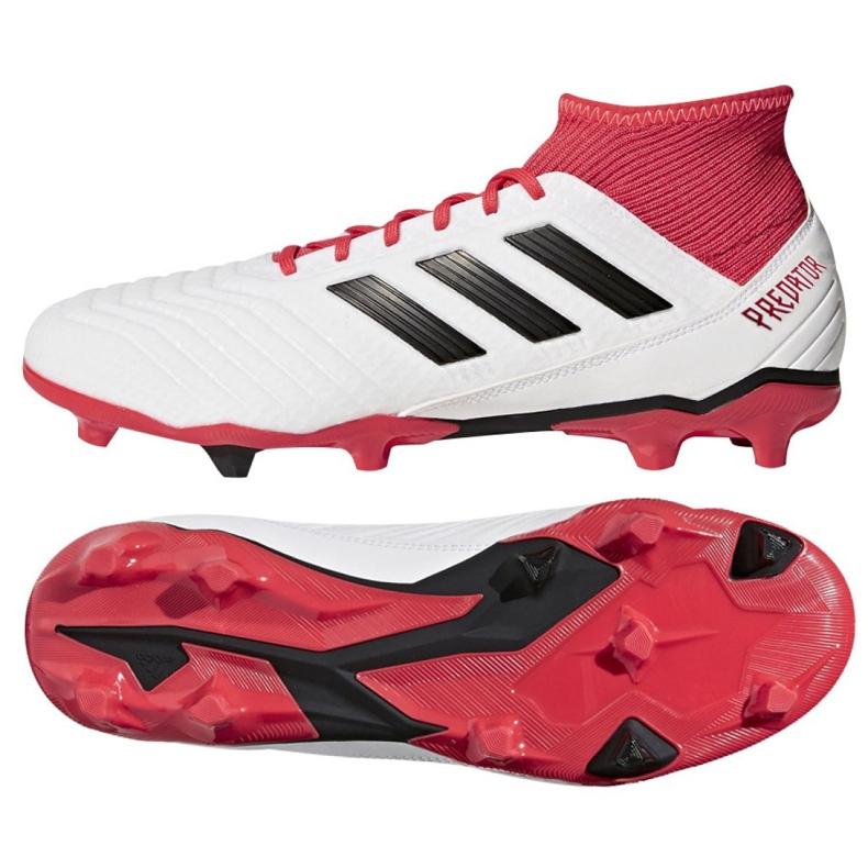 Buty piłkarskie adidas Predator 18.3 Fg M CM7667 białe białe