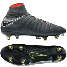 Buty piłkarskie Nike Hypervenom Phantom 3 Elite Df Fg Ac M AH7269-081 szare szare