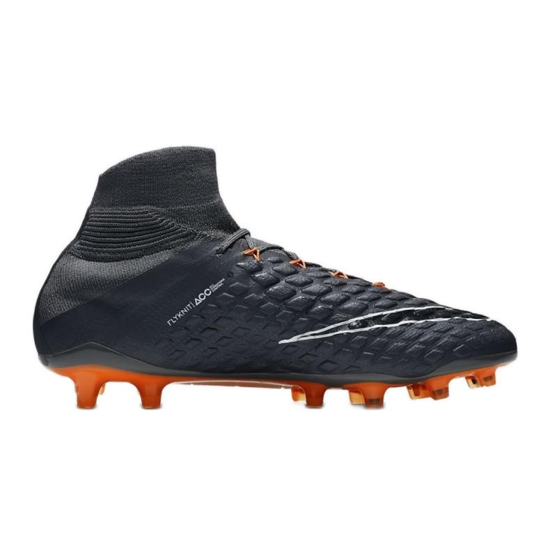 Buty piłkarskie Nike Hypervenom Phantom 3 Elite Df Fg M AH7270-081 szare szare