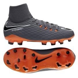 Buty piłkarskie Nike Hypervenom Phantom 3 Academy Df Fg Jr AH7287-081 szare wielokolorowe