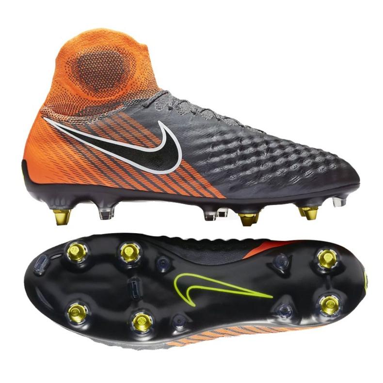 Buty piłkarskie Nike Magista Obra 2 Elite Ac Sg Pro M AH7304-080 szare szare