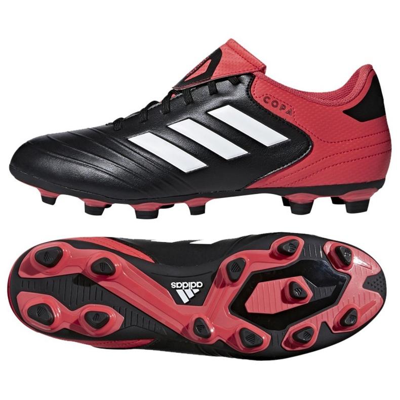 Buty piłkarskie adidas Copa 18.4 FxG M CP8960 czarny, czerwony czarne