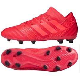 Buty piłkarskie adidas Nemeziz 17.2 Fg M CP8971 czerwone czerwone