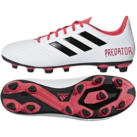 Buty piłkarskie adidas Predator 18.4 FxG M CM7669 białe wielokolorowe