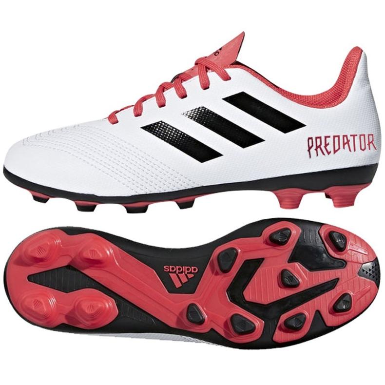 Buty piłkarskie adidas Predator 18.4 FxG Jr CP9241 białe wielokolorowe