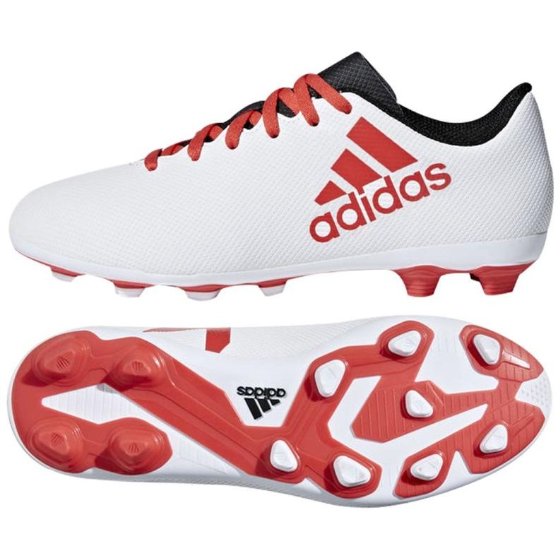 Buty piłkarskie adidas X 17.4 FxG Jr CP9015 białe wielokolorowe