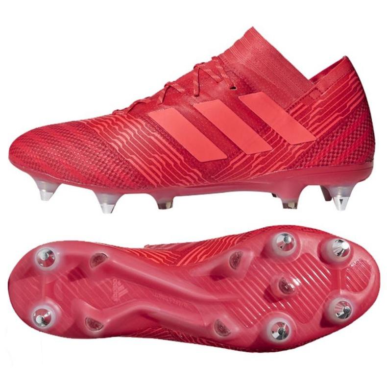 Buty piłkarskie adidas Nemeziz 17.1 Sg M CP8944 czerwone czerwone