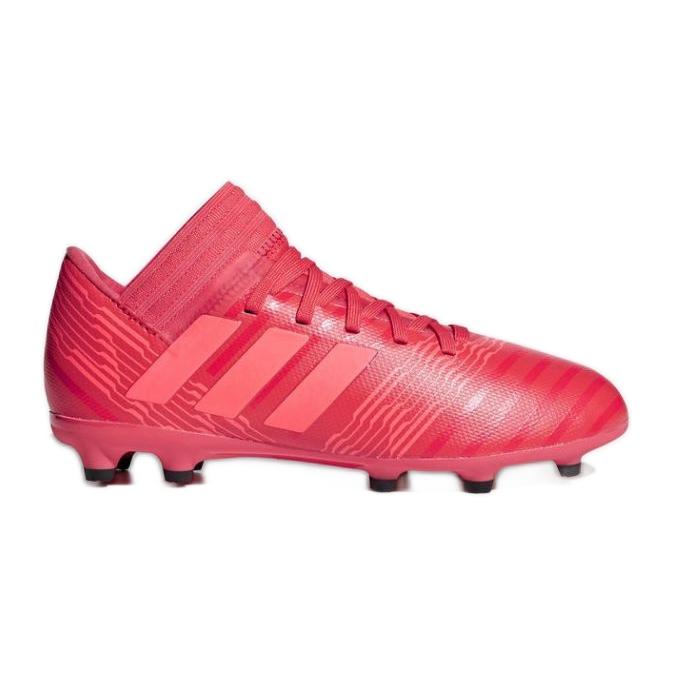Buty piłkarskie adidas Nemeziz 17.3 Fg Jr CP9166 czerwone czerwone