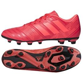 Buty piłkarskie adidas Nemeziz 17.4 FxG M CP9007 czerwone wielokolorowe
