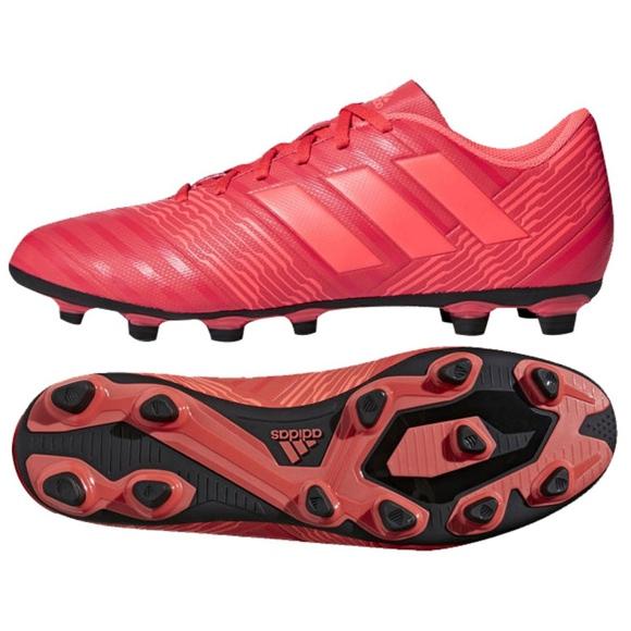 Buty piłkarskie adidas Nemeziz 17.4 FxG M CP9007 czerwony czerwone