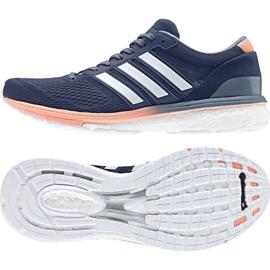 Granatowe Buty biegowe adidas Adizero Boston 6 W BB6418