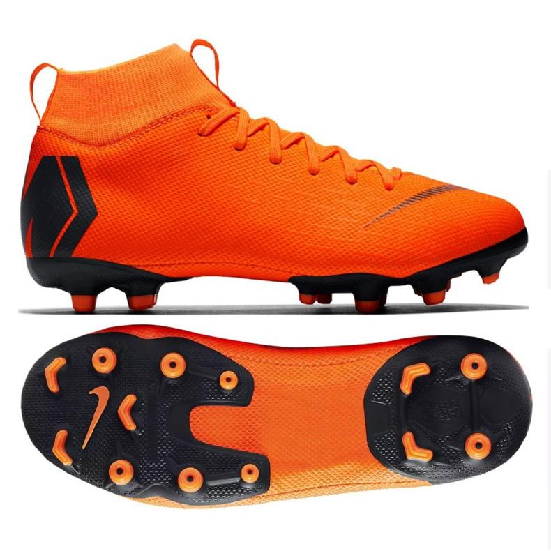 Buty piłkarskie Nike Mercurial Superfly 6 Academy Gs Mg Jr AH7337-810 pomarańczowe wielokolorowe