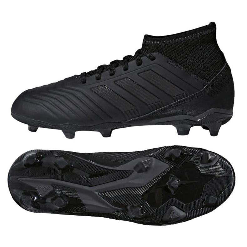 Buty piłkarskie adidas Predator 18.3 Fg Jr CP9055 czarne czarne