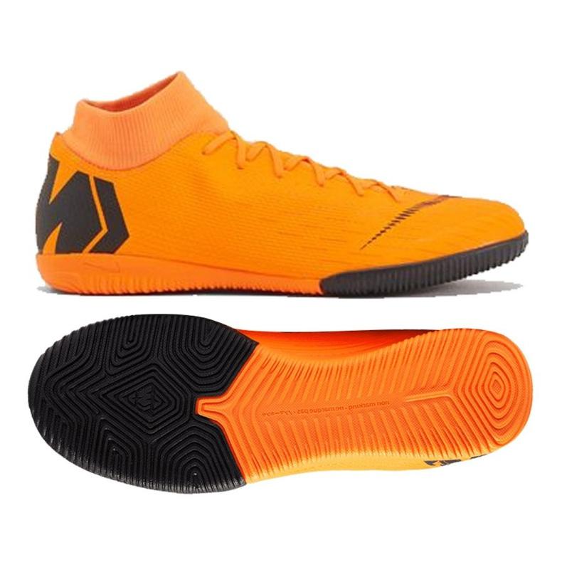 Buty halowe Nike Merurial Superflyx 6 Academy Ic M AH7369-810 pomarańczowy pomarańczowe