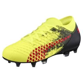 Buty piłkarskie Puma Furure 18.4 Fg Ag Jr 104346 01 żółte wielokolorowe