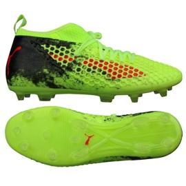 Buty piłkarskie Puma Future 18.2 Netfit Fg Ag Fizzy M 104321 01 zielone zielone