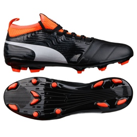 Buty piłkarskie Puma One 18.3 Fg M 104538 01 czarne wielokolorowe