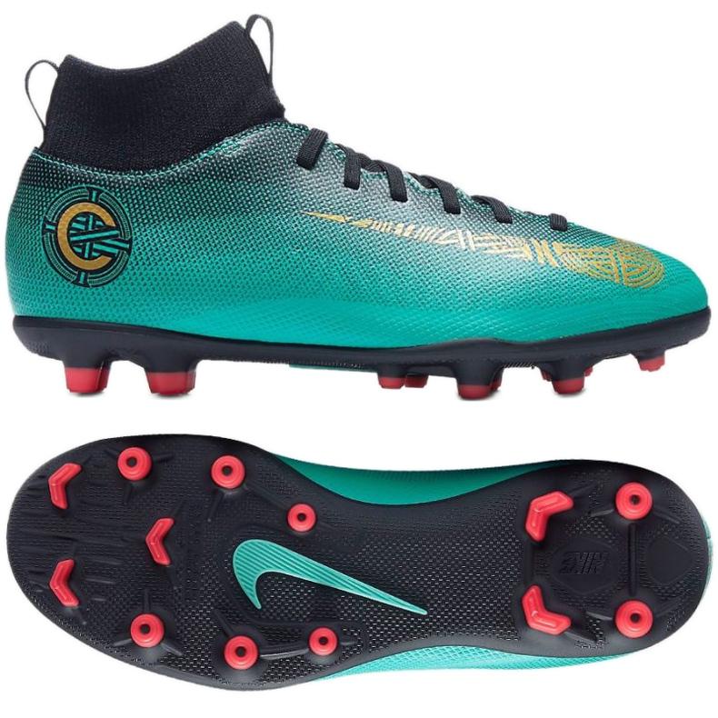 Buty piłkarskie Nike Mercurial Superfly 6 Club CR7 Mg Jr AJ3115-390 niebieskie niebieskie