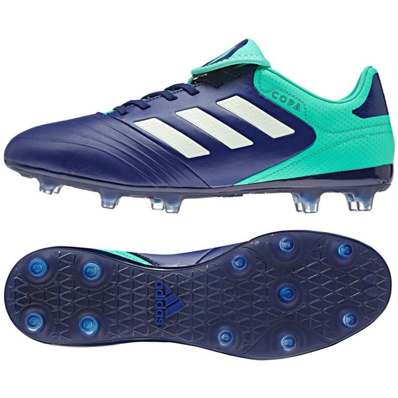 Buty piłkarskie adidas Copa 18.3 Fg M CP8959 granatowe niebieski, zielony