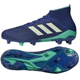 Buty piłkarskie adidas Predator 18.1 Fg M CM7411 niebieskie niebieskie