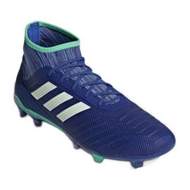 Buty piłkarskie adidas Predator 18.2 Fg M CP9293 niebieskie wielokolorowe