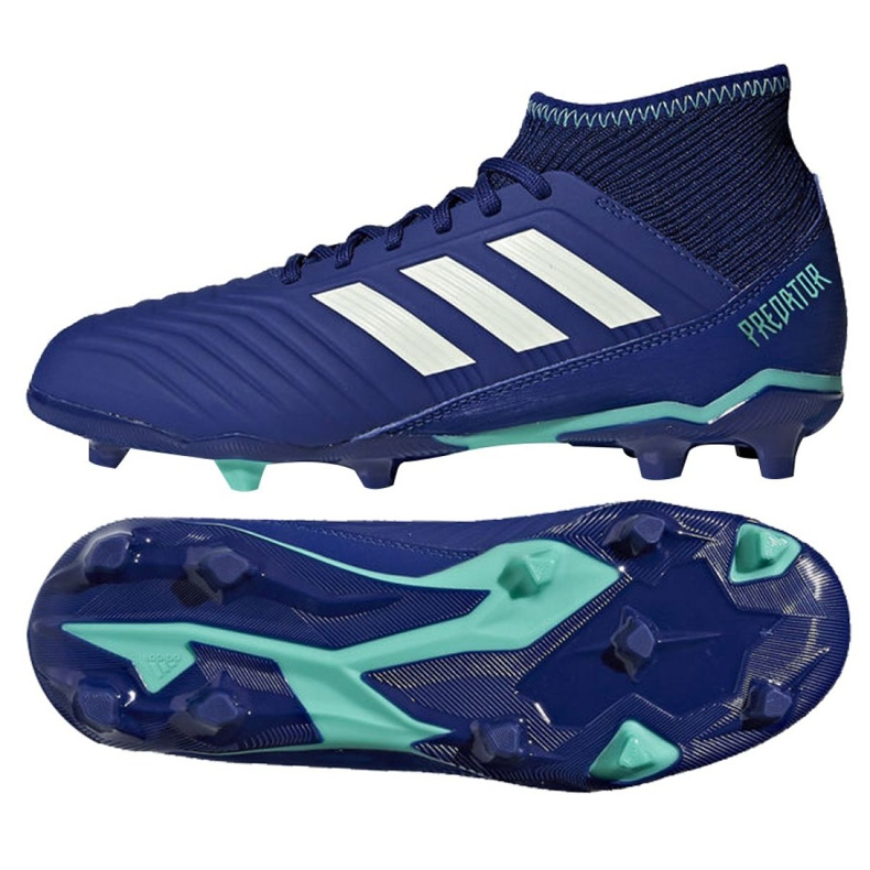 Buty piłkarskie adidas Predator 18.3 Fg Junior CP9012 niebieskie niebieskie