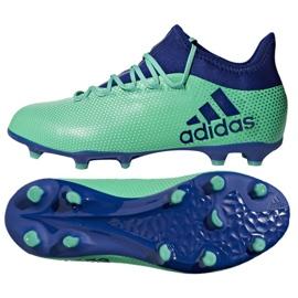 Buty piłkarskie adidas X 17.1 Fg Jr CP8980 wielokolorowe niebieskie