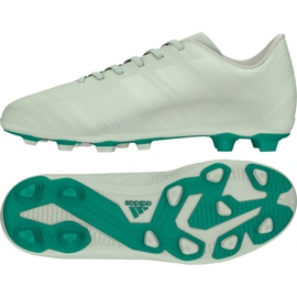 Buty piłkarskie adidas Nemeziz 17.4 FxG Jr CP9208 zielone wielokolorowe