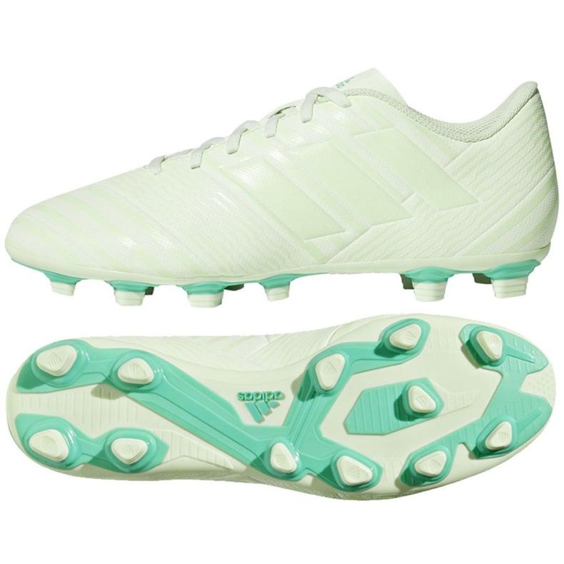 Buty piłkarskie adidas Nemeziz 17.4 FxG M CP9008 białe białe