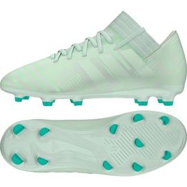 Buty piłkarskie adidas Nemeziz 17.3 Fg Jr CP9167 zielone zielone
