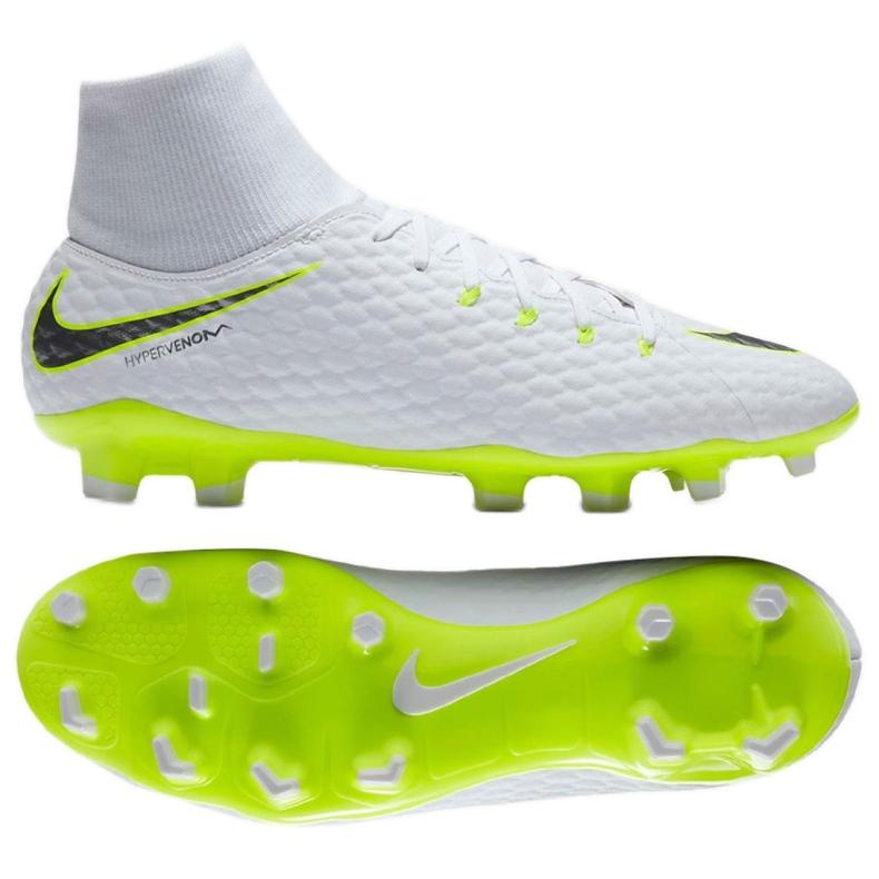 Buty piłkarskie Nike Hypervenom Phantom 3 Academy Df Fg M AH7268-107 białe wielokolorowe