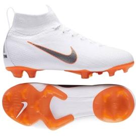 Buty piłkarskie Nike Mercurial Superfly 6 Elite Fg Jr AH7340-107 białe białe