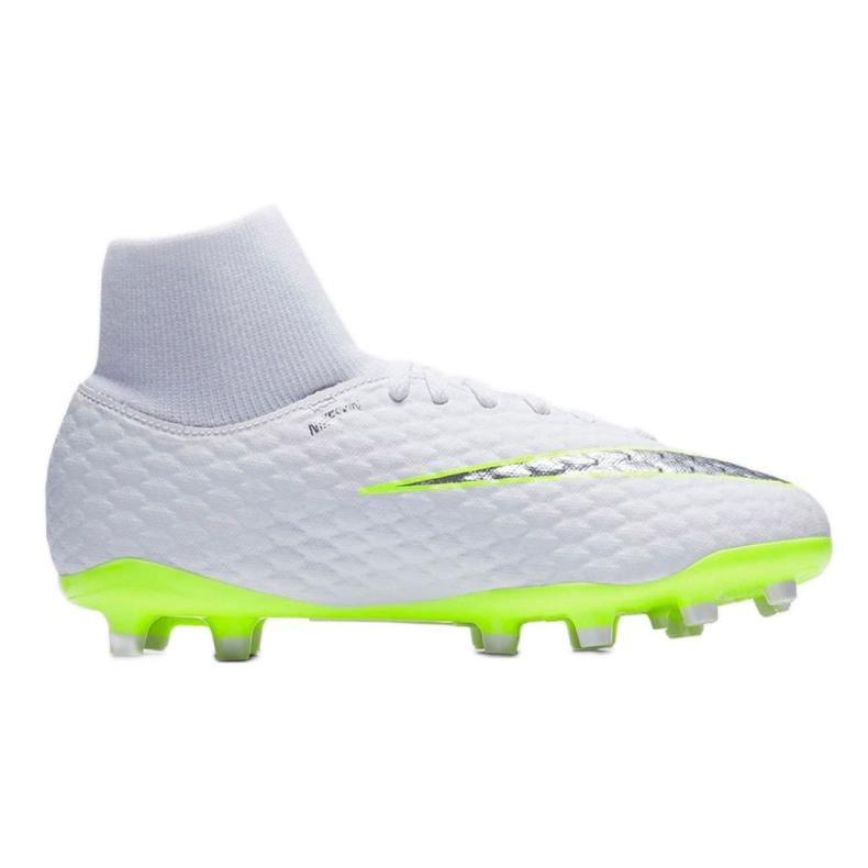 Buty piłkarskie Nike hypervenom Phantom 3 Academy Df Fg Jr AH7287-107 wielokolorowe białe