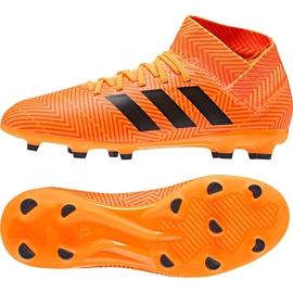 Buty piłkarskie adidas Nemeziz 18.3 Fg Jr DB2352 pomarańczowe wielokolorowe