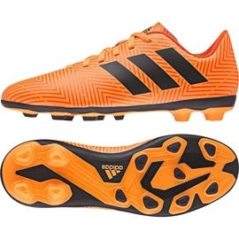 Buty piłkarskie adidas Nemeziz 18.4 FxG Jr DB2355 pomarańczowe wielokolorowe