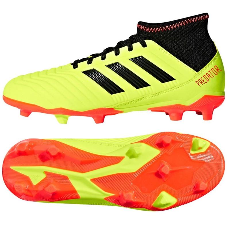Buty piłkarskie adidas Preadtor 18.3 Fg Jr DB2319 wielokolorowe żółte