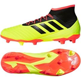 Buty piłkarskie adidas Predator 18.2 Fg M DB1997 wielokolorowe żółte